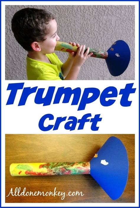How To Make A Paper Trumpet - trumpet craft birth of baha u llah births for and sad
