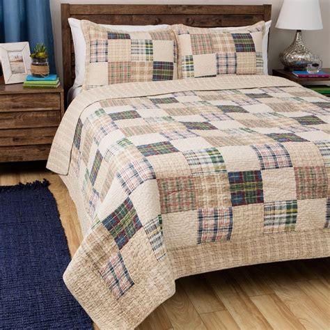 madras bedding oxford madras plaid quilt set