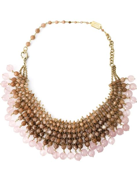 beaded collar rosantica beaded collar necklace in pink pink purple