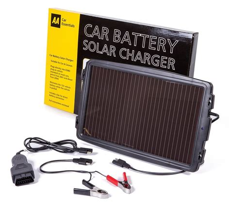 solar car battery charger review review of aa solar power car battery charger maintainer