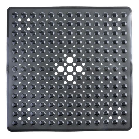 In Shower Mat by Slipx Solutions 21 In X 21 In Square Shower Mat In Black