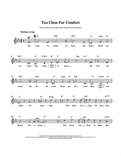 too close for comfort lyrics larry holofcener too close for comfort sheet music
