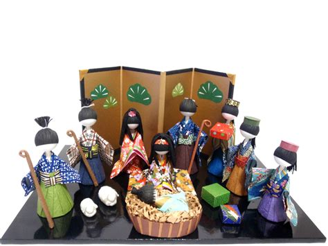 Handmade Japan - nativity set large set made in japan handmade japanese
