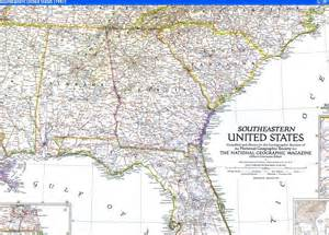 southeastern united states map map 1947 southeastern united states national geographic
