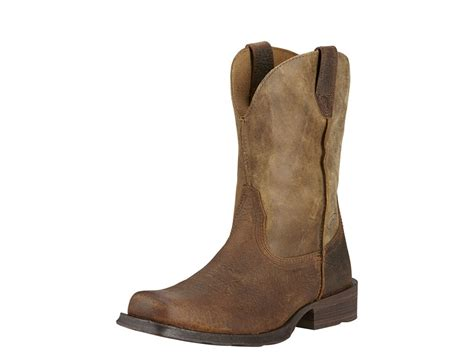 ariat rambler work boots ariat rambler 10 pull on square toe work boots leather