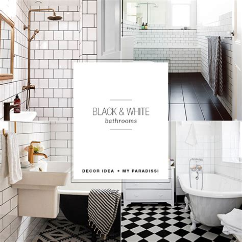 black white and bathroom decorating ideas black and white bathrooms my paradissi