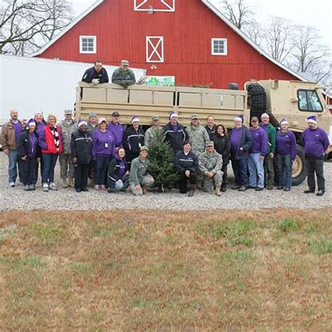 trees for troops at dull s tree farm pumpkin patch in
