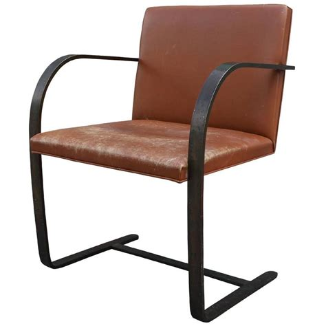 Brno Chair by Mies Der Rohe For Knoll Brno Chair In Bronze And