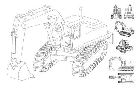 cool cad drawings excavator line drawing cool pinterest cad drawing
