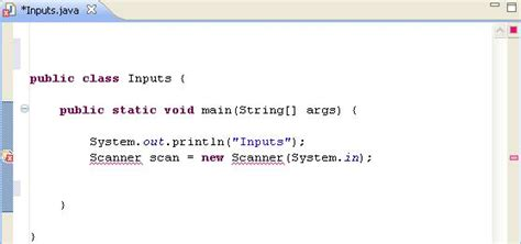 java input using java scanner