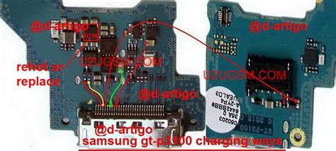 Connector Charge Charger Konektor Cas Samsung P1000 P3100 P6200 samsung galaxy tab 2 7 0 p3100 charging solution jumper