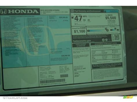 Honda Accord Sticker by 2015 Honda Accord Hybrid Sedan Window Sticker Photo