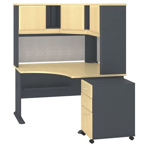 48 Desk With Hutch Bush Business Series A 48 Quot Corner Desk With Hutch And Pedestal Sra040besu