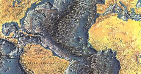 the topography of the floor is like beautiful topography map of the atlantic sea floor the