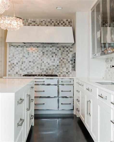 kitchen cabinets with white trim white kitchen cabinets with stainless steel trim modern