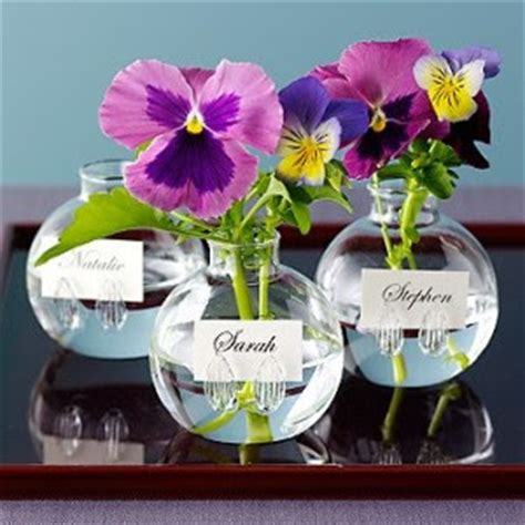 Bud Vase Place Card Holders by Resources 6 Items For The Buzz
