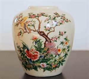 vintage ceramic japanese vase sanko toen painted