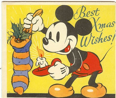 a victorian wwi mickey mouse merry christmas to all