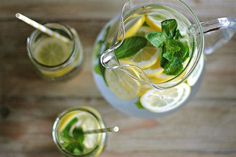 Mint Detox Water by Lemon Water With Fresh Mint Eat Yourself