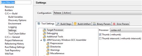 gcc ffunction sections c setting prj properties learning eclipse arm