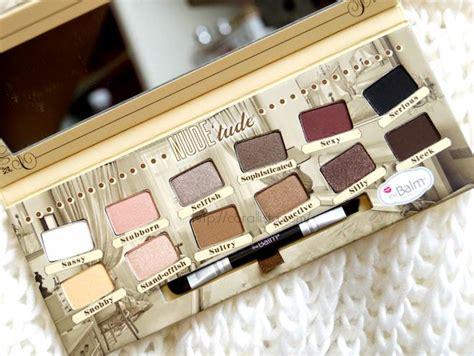 Thebalm Tude Eyeshadow thebalm tude eye shadow palette makeup picks and