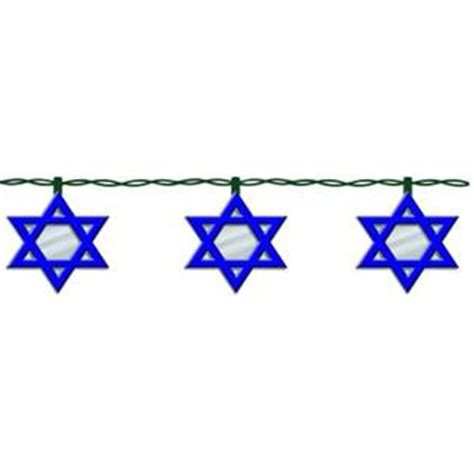 kurt adler ul 10 light hanukkah star of david light set