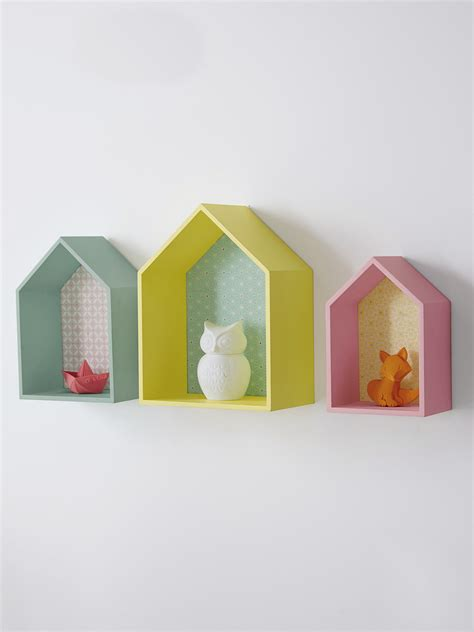 Superbe La Plus Belle Chambre #5: Deco-murale-enfant-etagere-pastel-maison.jpg