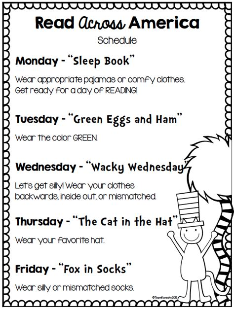 themes for reading week theimaginationnook read across america all things