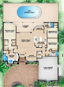 Florida House Plans by Florida Mediterranean House Plan 60505
