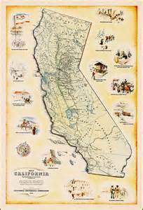 california missions map printable map of california showing the state as it was known a
