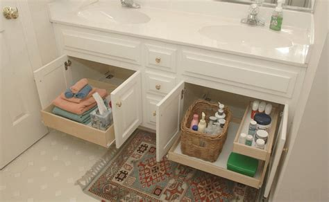 bathroom counter shelves bathroom under counter slide out shelves home decorating