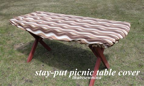 elasticized picnic covers thatssewnina great idea a stay put picnic cover