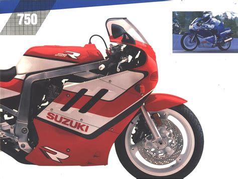 89 Suzuki Gsxr 750 Suzuki Gsx R750 Sales Brochures