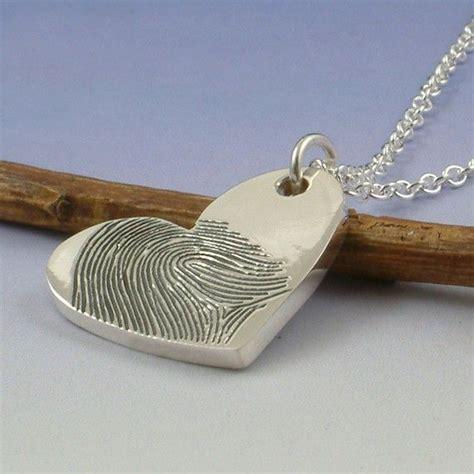 how to make fingerprint jewelry silver fingerprint pendant your finger print engraved onto