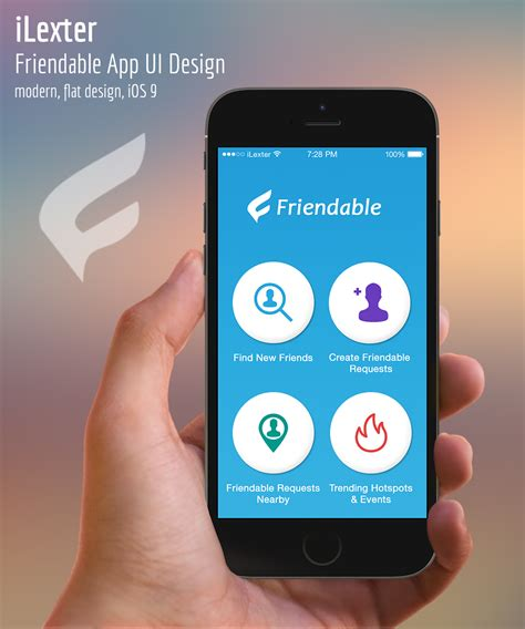 x design app modern personable app design for friendable inc by
