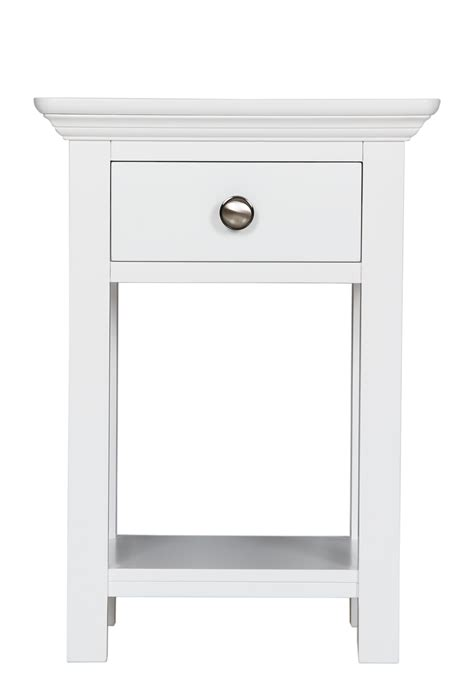 small white bedside table retro small wooden nightstand with drawers 4 legs in white