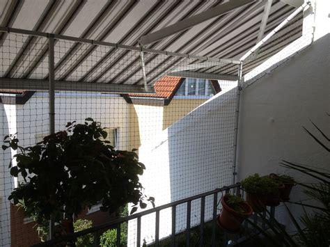 hängematte am balkon befestigen balkonvernetzung mit markise der katzennetz profi