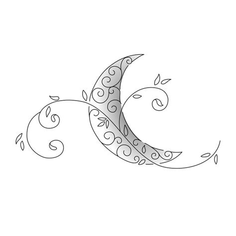 tribal crescent moon tattoo cool moon design tattoos beautiful moon
