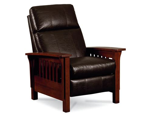 Leather Mission Style Recliner by Mission High Leg Recliner Recliners Furniture