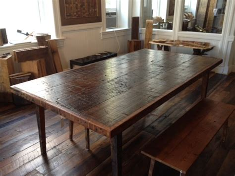 Salvaged Wood Dining Room Tables | reclaimed wood dining table contemporary dining tables