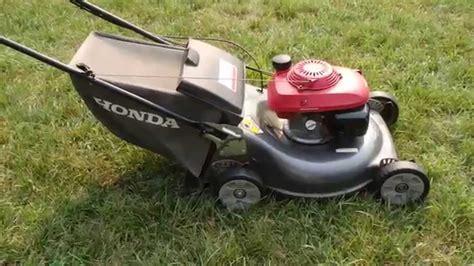 honda hrr harmony ii lawn mower quadra cut system final  start part ii july
