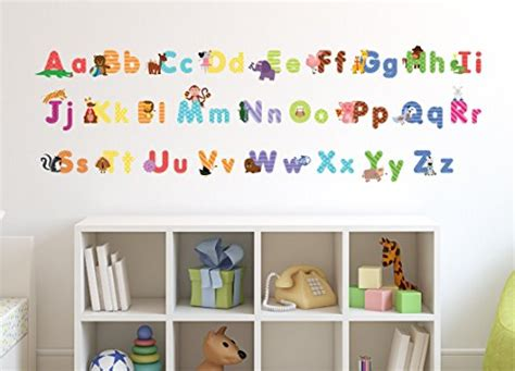 Animal Alphabet Wall Decals Baby And Toddler Wall Decor Wall Decal Letters For Nursery