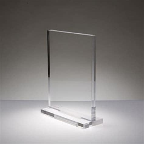 plexiglas trasparente per locandine espositori da banco
