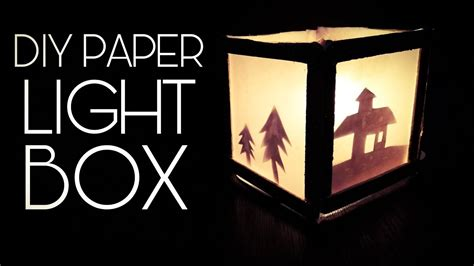 how to make a light box sign how to make a paper light box diy youtube