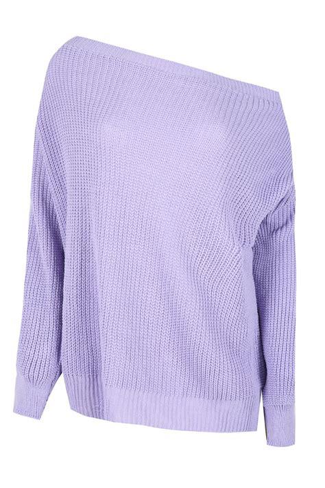 shoulder jumper knitting pattern womens the shoulder chunky knit jumper