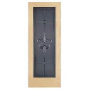 glass interior doors home depot steves amp sons fleur de lis full lite solid core pine