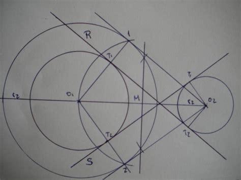 tangentes interiores a dos circunferencias curso gratis de dibujo t 233 cnico rectas tangentes