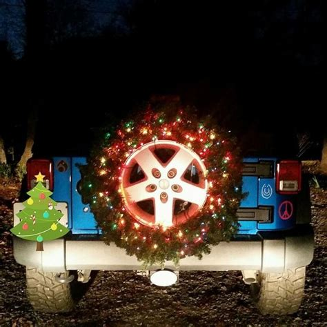 jeep wreath 96 best creative christmas lights images on pinterest