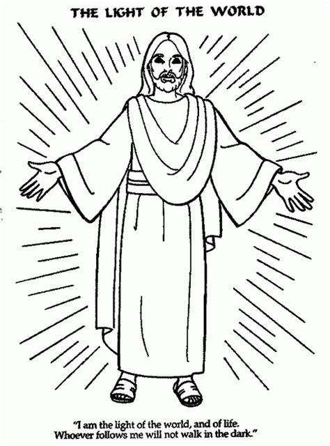 coloring page for jesus light of the world coloring home