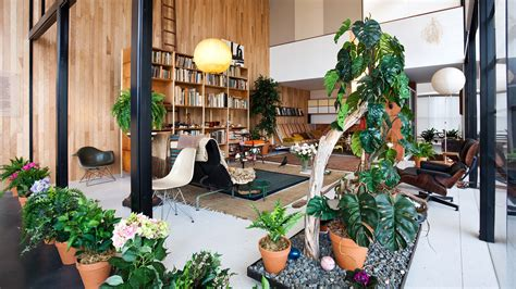 interior garden plants charles and ray eames living room exhibit shelby white